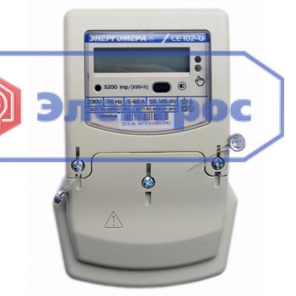 Электросчетчик CE102-U S6 145-AV 5(60)A 1Ф многотарифный