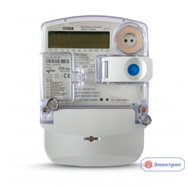 Электросчетчик ISKRA ME382-D1 5(85)A для Зеленого тарифа