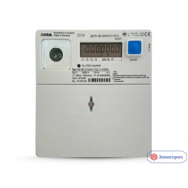 Электросчетчик ISKRA ME162-D1 5(85)A 1Ф многотарифный
