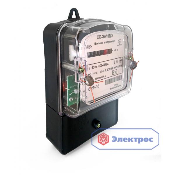 Электросчетчик СО-ЭА10ДО 5(60)А 1Ф однотарифный