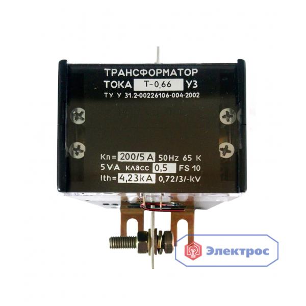 Трансформатор тока T-0,66 200/5 0.5S