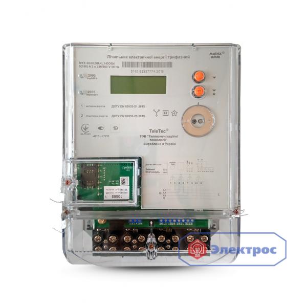 Электросчетчик MTX 3G30.DH.4L1-DOG4 5(100)A для Зеленого тарифа