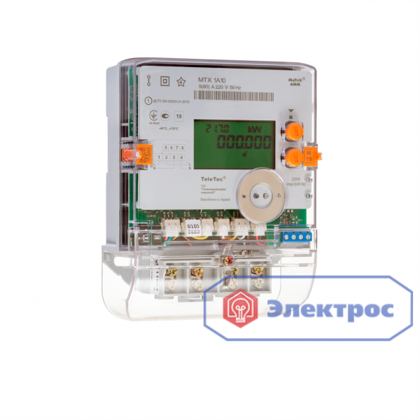 Электросчетчик MTX 1A10.DG.2Z5-CD4 5(80)A 1Ф многотарифный