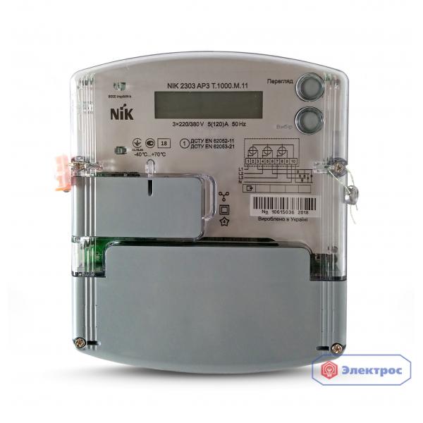Электросчетчик NIK 2303 ATT.1000.MС.11 5(10)A 3ф многотарифный