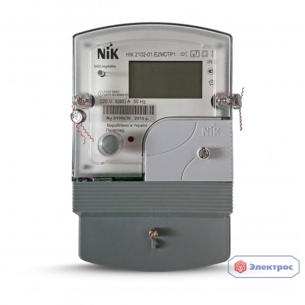 Электросчетчик NIK 2102-01.Е2МСТР1 5(60)A 1Ф многотарифный