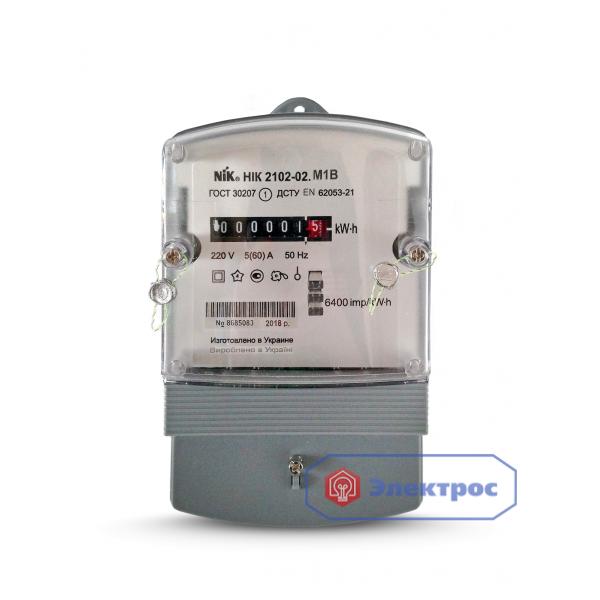 Электросчетчик NIK 2102-02.M2 5(60)A 1Ф однотарифный