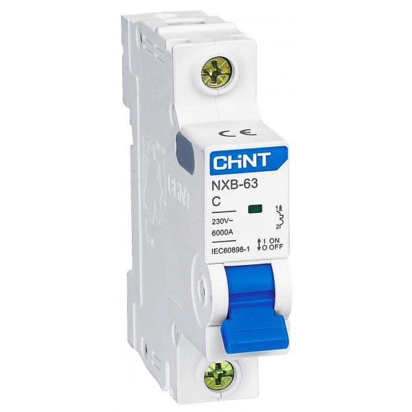 Авт. выключатель CHINT NXB-63 1P C10 6kA