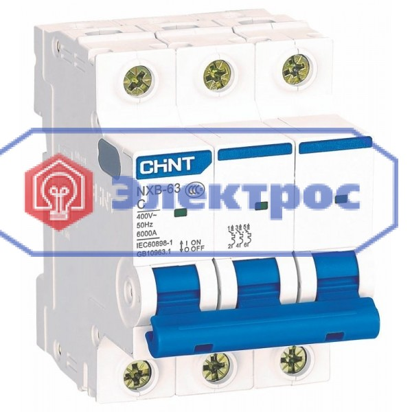Авт. выключатель CHINT NXB-63 3P C32 6kA